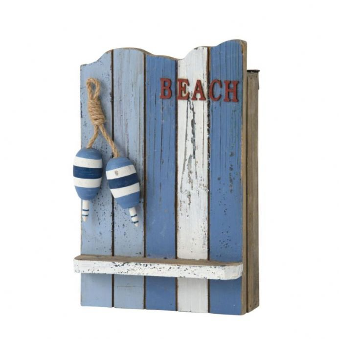 Rustic BEACH Distressed Coastal Wooden Key Box